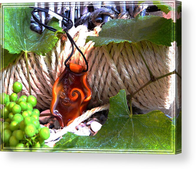 Swirl Acrylic Print featuring the photograph Swirl And Rope by Chara Giakoumaki