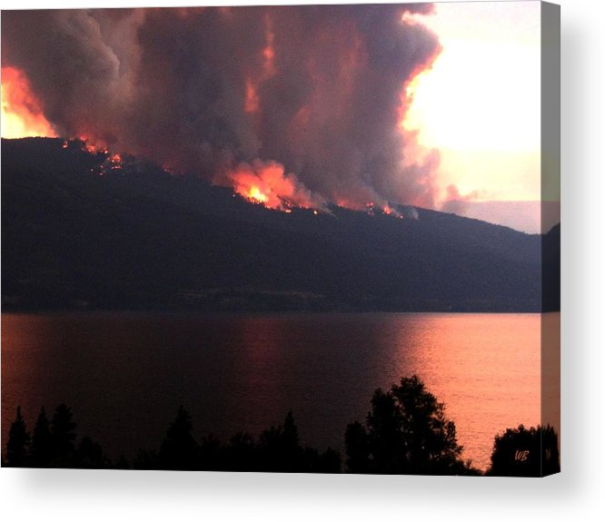 Forest Fire Acrylic Print featuring the photograph Terrace Mountain Fire 5 by Will Borden