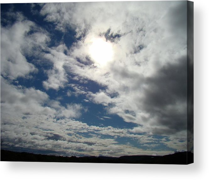 Sky Acrylic Print featuring the photograph Texas Blue Sky Two by Ana Villaronga