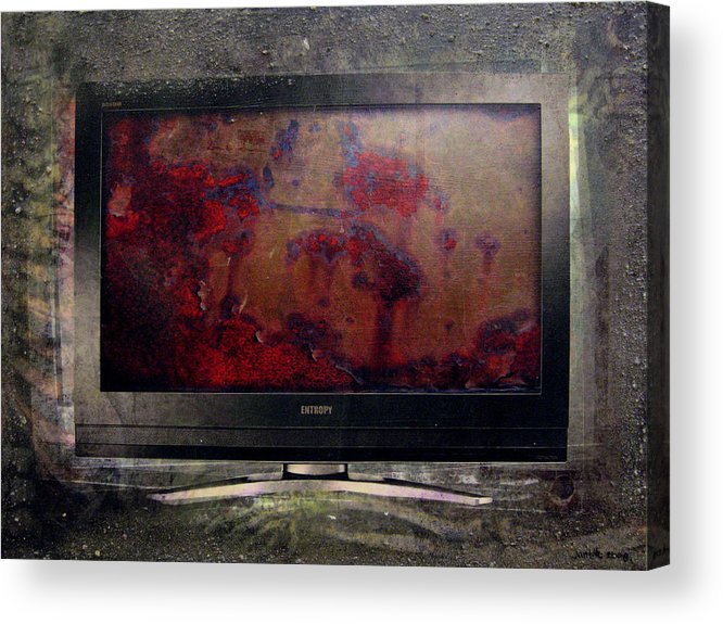 The 7 Contemporary Sins Sloth Acrylic Acrylic Print featuring the digital art the 7 contemporary sins - Sloth by Janelle Schneider