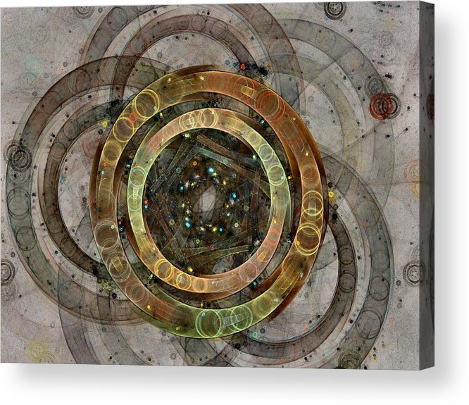 Circles Acrylic Print featuring the digital art The Almagest - Homage To Ptolemy - Fractal Art by NirvanaBlues
