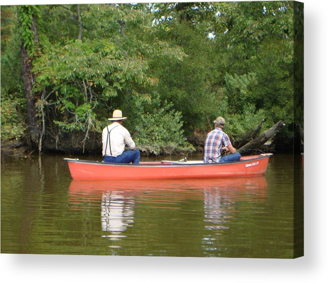 Fishing Acrylic Print featuring the photograph The Amish Way by PJ Cloud
