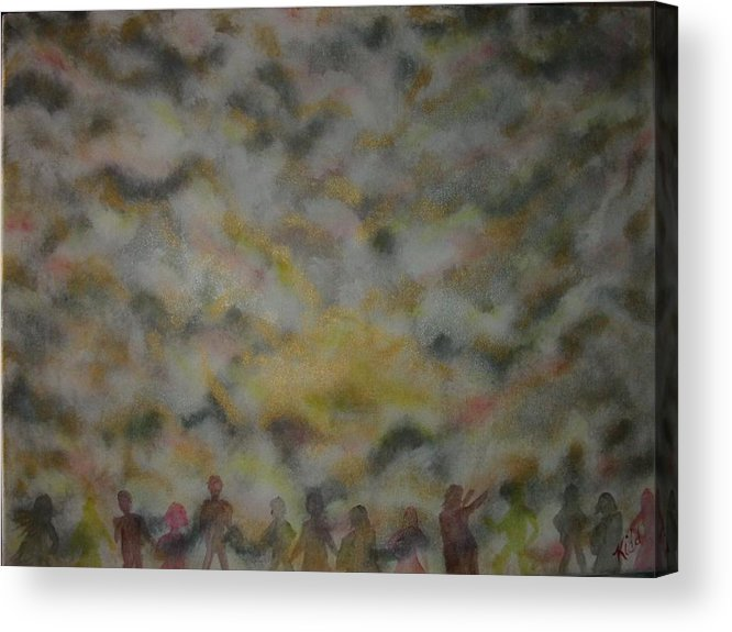 Worship Acrylic Print featuring the painting The Awakening by Laurie Kidd