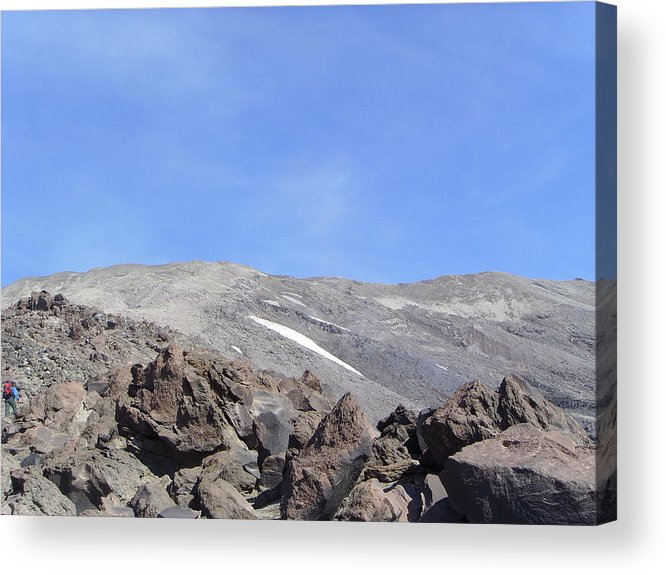 Mt St Helens.mountains Acrylic Print featuring the photograph The Base Of Mt St Helens by Jeff Swan
