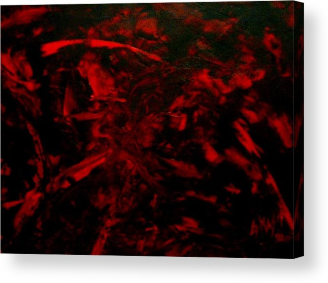 Abstract Acrylic Print featuring the painting The Blood by Guillermo Mason