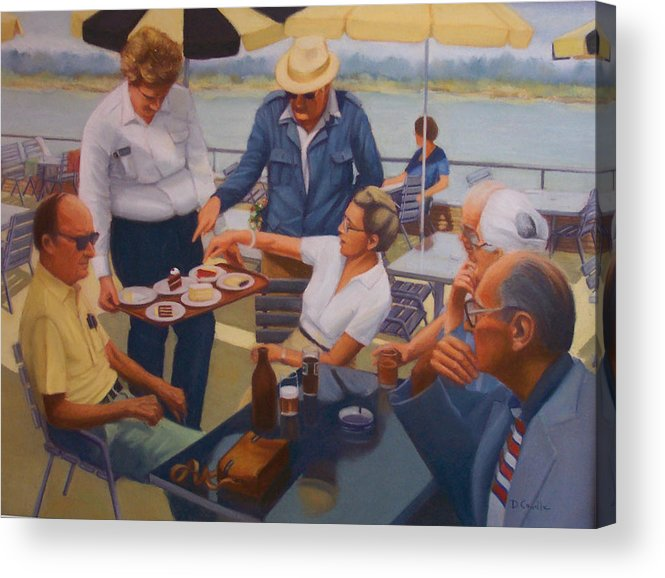 Rhine River Cruise Acrylic Print featuring the painting The Boat Party by Diane Caudle
