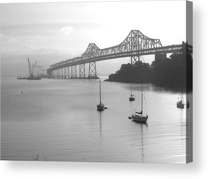 Bridges Acrylic Print featuring the photograph The Bridge Is Coming by Jerry Patchin