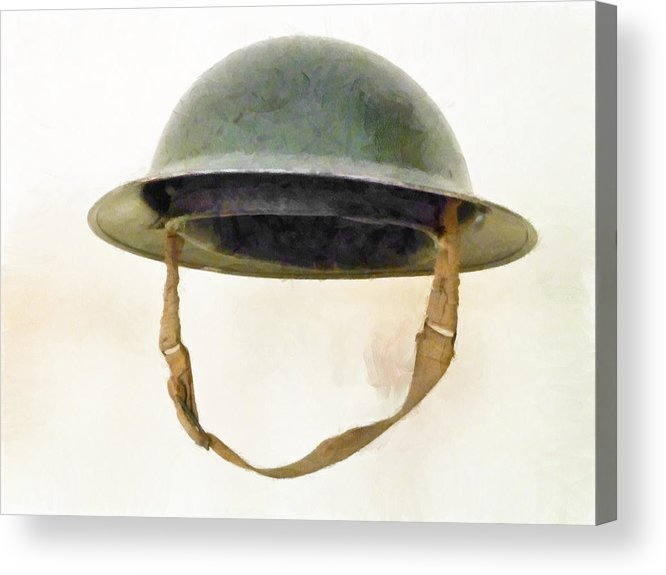 Brodie Acrylic Print featuring the photograph The British Brodie Helmet by Steve Taylor
