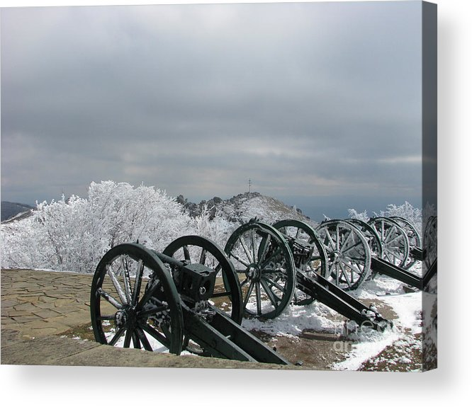 Cannon Acrylic Print featuring the photograph The Cannons At Shipka by Iglika Milcheva-Godfrey