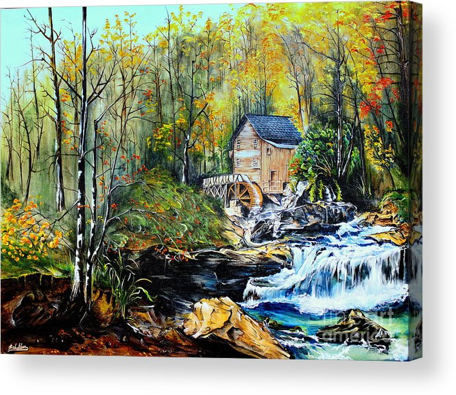 Creek Acrylic Print featuring the painting Glade Creek by Farzali Babekhan