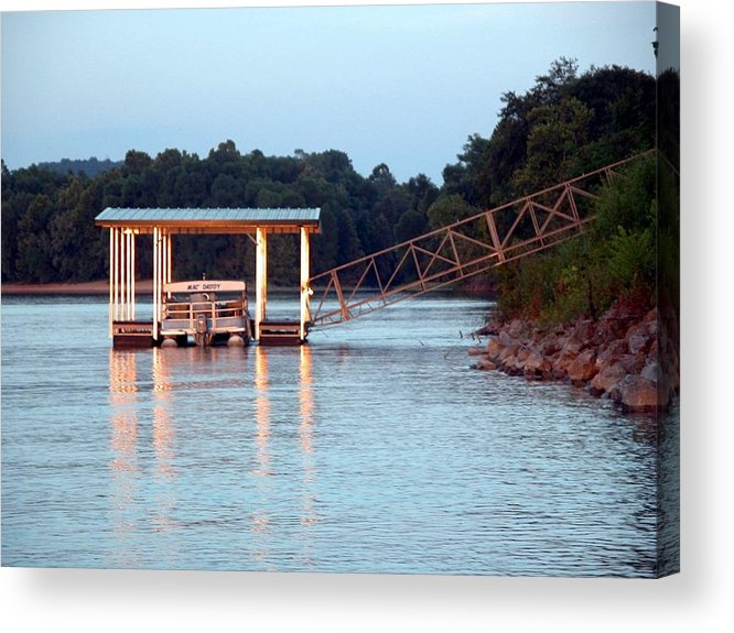River Acrylic Print featuring the photograph The Dock by Michael Morrison