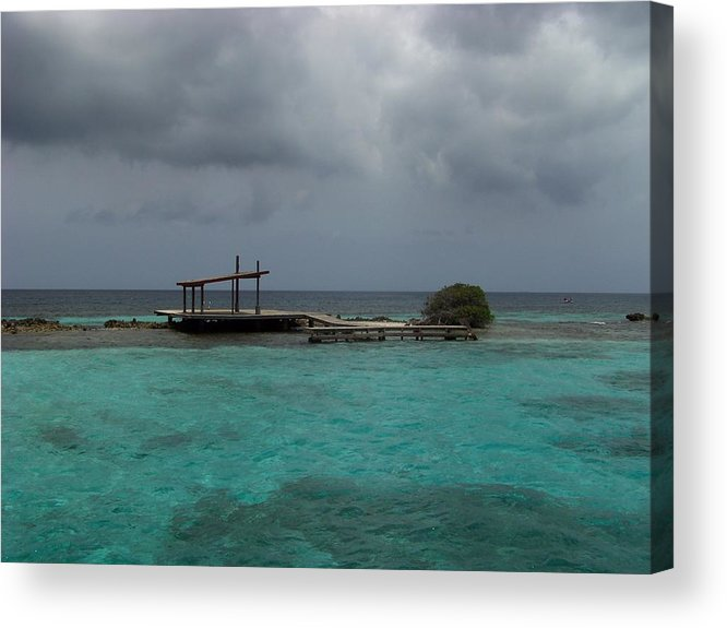 Lagoon Acrylic Print featuring the photograph The French Lagoon Aruba by Donna Davis