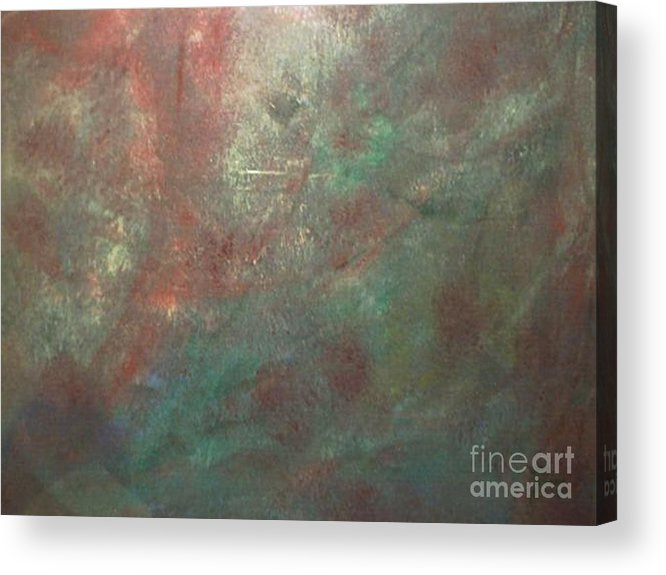Abstract Acrylic Print featuring the painting The Gain by Guillermo Mason
