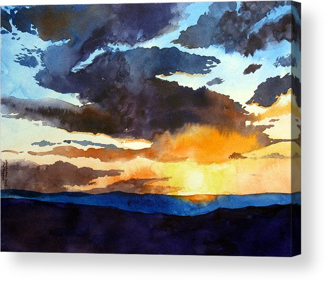 Sunset Acrylic Print featuring the painting The Glory Of The Sunset by Christopher Shellhammer