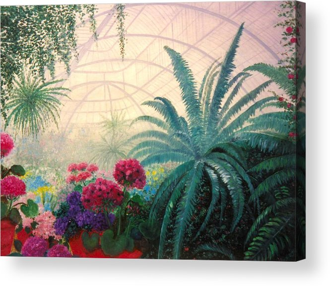 Greenhouse Acrylic Print featuring the digital art The Green House by Jeanene Stein