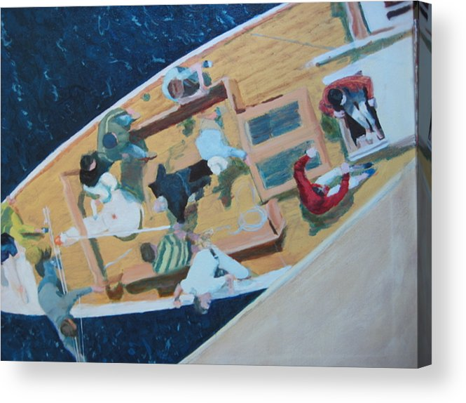Sailboat Acrylic Print featuring the painting The Grissette by Brian McCoy