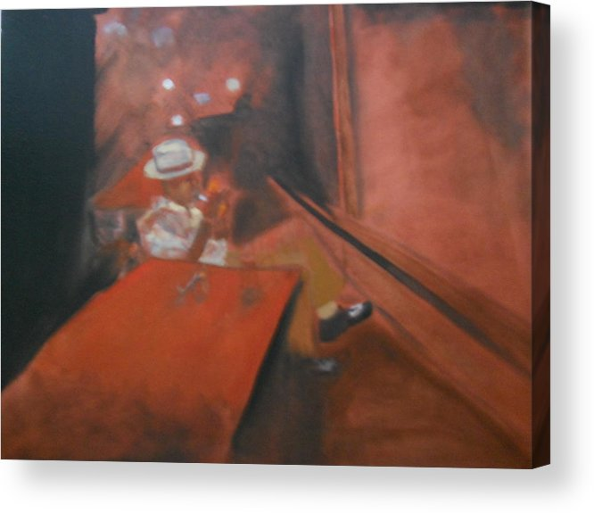Music Acrylic Print featuring the painting The Jazz Club by Joette Watson