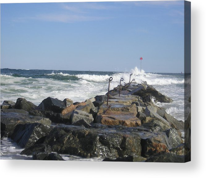 Beach Acrylic Print featuring the photograph The Jetty by Donna Davis