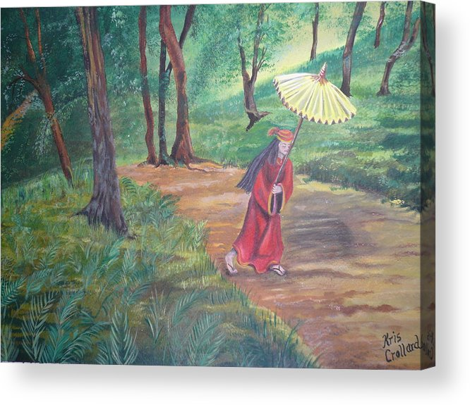 Landscape Acrylic Print featuring the painting The Journey by Kris Crollard