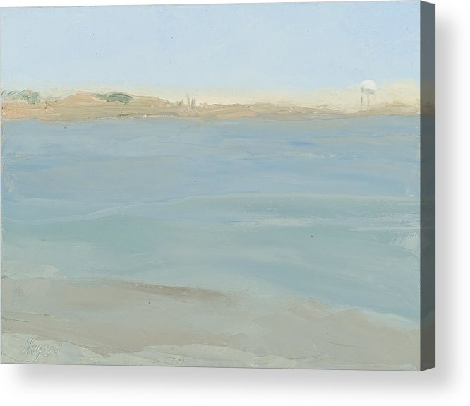 Seascape Acrylic Print featuring the painting The Little Beach by Karen Kappe Nugent