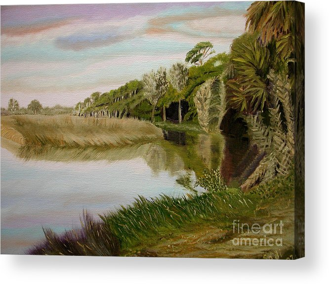 Landscape Acrylic Print featuring the painting The Loop by Sodi Griffin