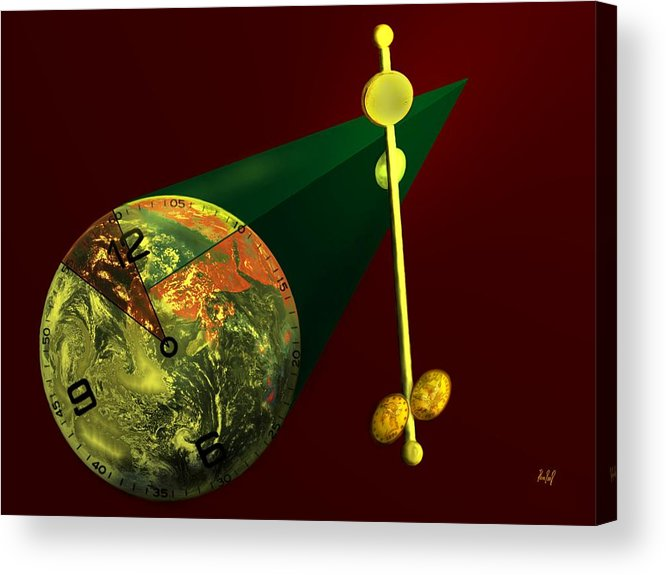 Earth Acrylic Print featuring the digital art The Metronome by Helmut Rottler