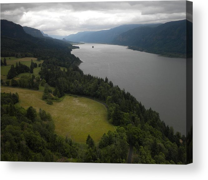 Landscape Acrylic Print featuring the photograph The Mighty Columbia by Garry Kaylor