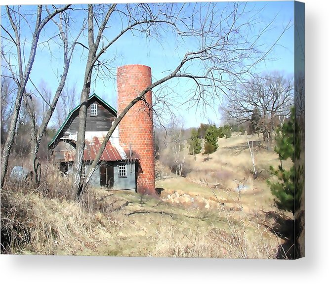 Barn Acrylic Print featuring the photograph The Old Farm by Tom Reynen