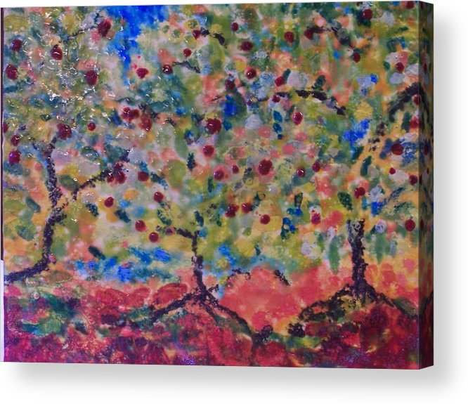 Landscape Acrylic Print featuring the painting The Orchard by Karla Phlypo-Price