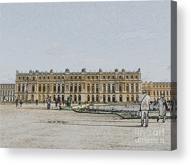 Palace Acrylic Print featuring the photograph The Palace Of Versailles by Amanda Barcon