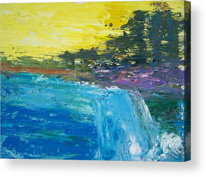 Abstract Acrylic Print featuring the painting The Rush by Geraldine Liquidano