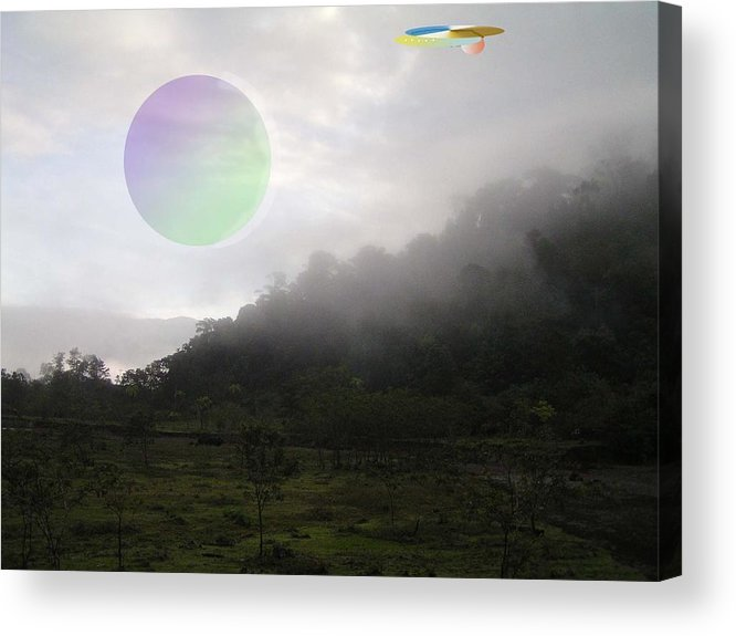 Landscape Sci-fi Acrylic Print featuring the photograph The Traveler by Giles b Liddell