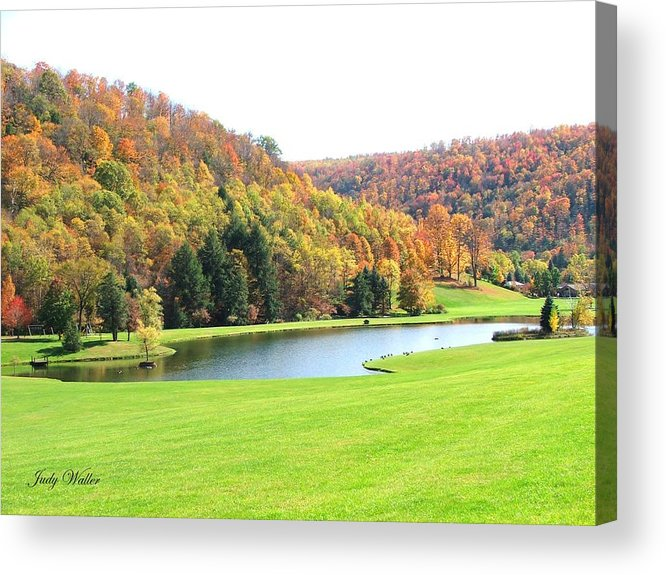 Pond Acrylic Print featuring the photograph The View In The Valley by Judy Waller
