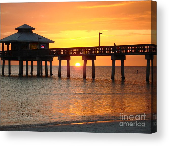 Sunset Acrylic Print featuring the photograph The View by Robyn Leakey