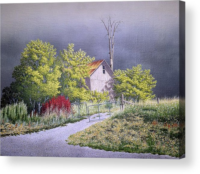 Summer Glow Acrylic Print featuring the painting The Warm Glow Of Summer by Conrad Mieschke