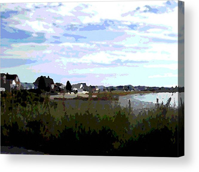 Seascape Acrylic Print featuring the painting The Wells Side by Douglas Auld