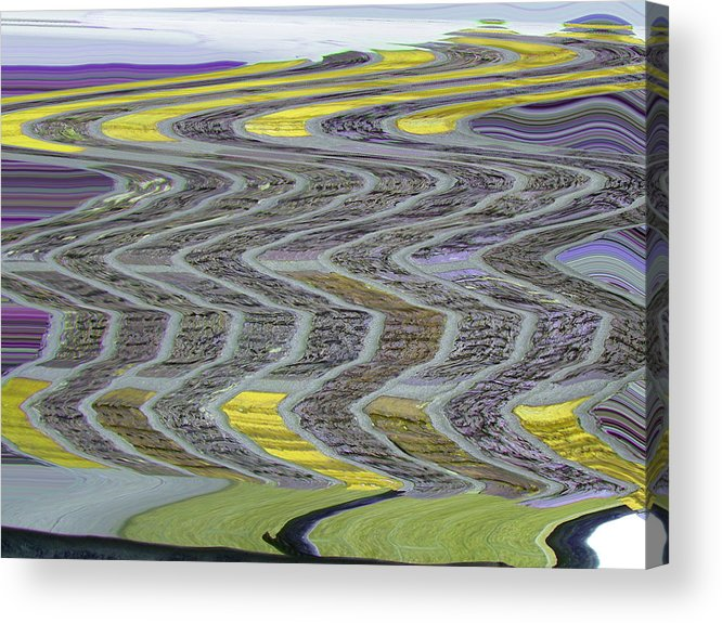 Abstract Acrylic Print featuring the digital art The Yellow Brick Road by Lenore Senior