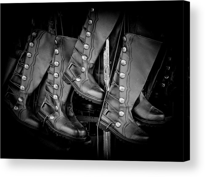 Boots Acrylic Print featuring the photograph These Boots Were Made For Walking by Robin Zygelman