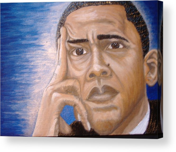 Acrylic Acrylic Print featuring the painting Thinking Of A Master Plan by Keenya Woods