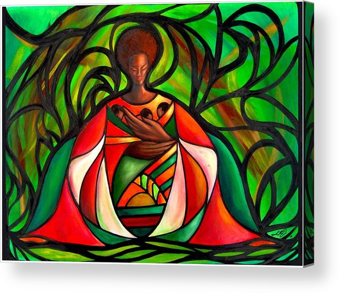Acrylic Print featuring the painting Three Little Birds by Lee Grissett