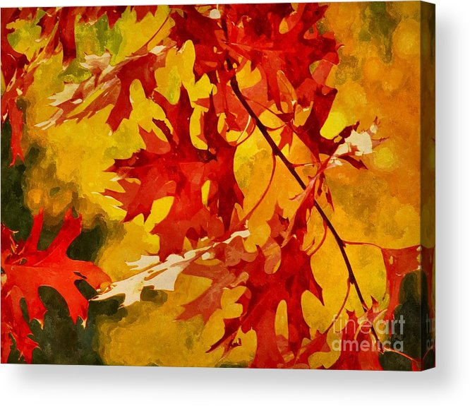 Autumn Acrylic Print featuring the digital art Time For Change by Autumn Moon