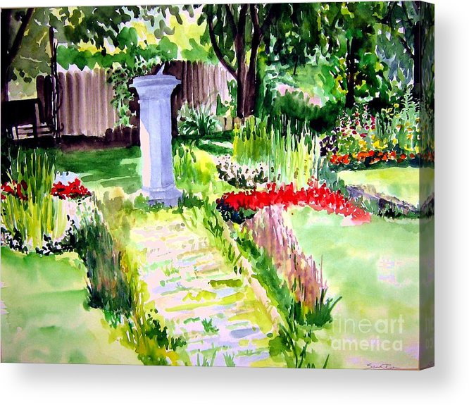 Park Acrylic Print featuring the painting Time In A Garden by Sandy Ryan
