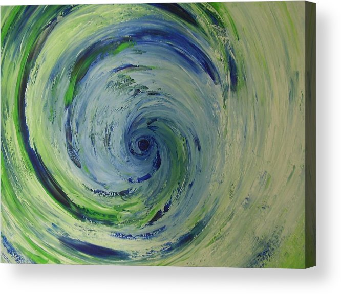 Acrylic Print featuring the painting Tornado by Murielle Hebert