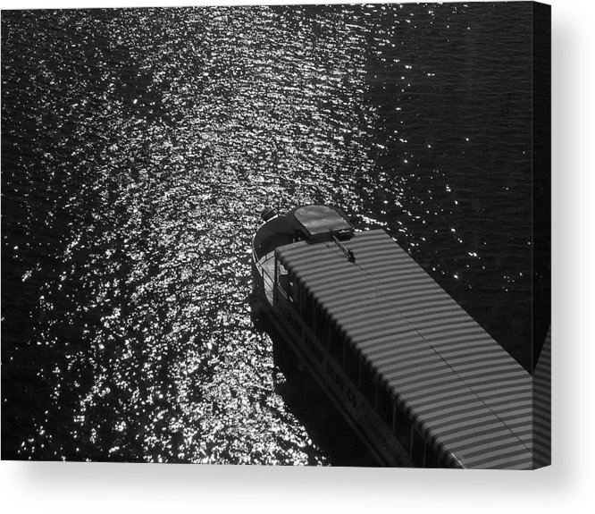 Tourboat Acrylic Print featuring the photograph Tourboat On The Charles by Nancy Ferrier