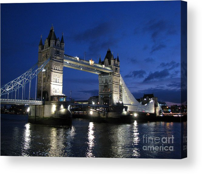 London Acrylic Print featuring the photograph Tower Bridge by Amanda Barcon