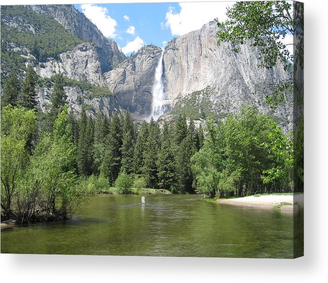 Waterfalls Acrylic Print featuring the photograph Tranquil Waterfalls by Jerry Patchin
