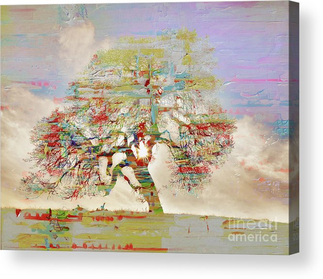 Painting Acrylic Print featuring the painting Tree Art 54tr by Gull G