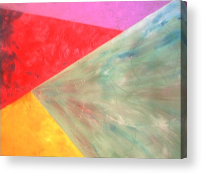 Geometric Art Acrylic Print featuring the painting Triangles by Guillermo Mason