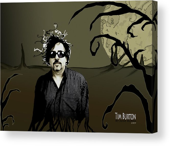 Tim Burton Acrylic Print featuring the digital art Tribute by Josh Burns