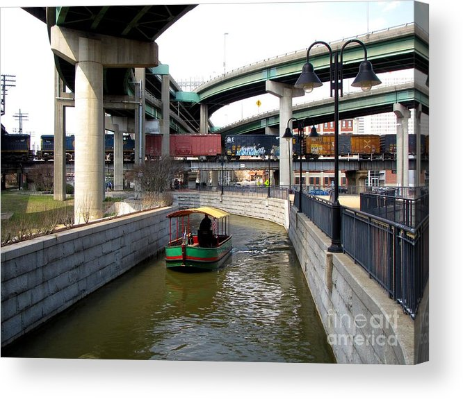 Schuminweb Acrylic Print featuring the photograph Triple Crossing Area by Ben Schumin